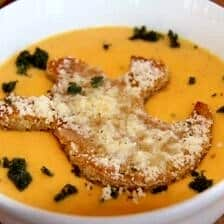 Butternut Squash Soup with Ghost Croutons