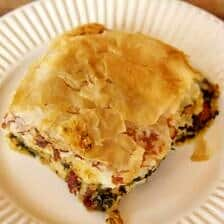 Spinach and Havarti Phyllo Casserole