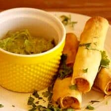 Baked Chipotle Chicken Taquitos.