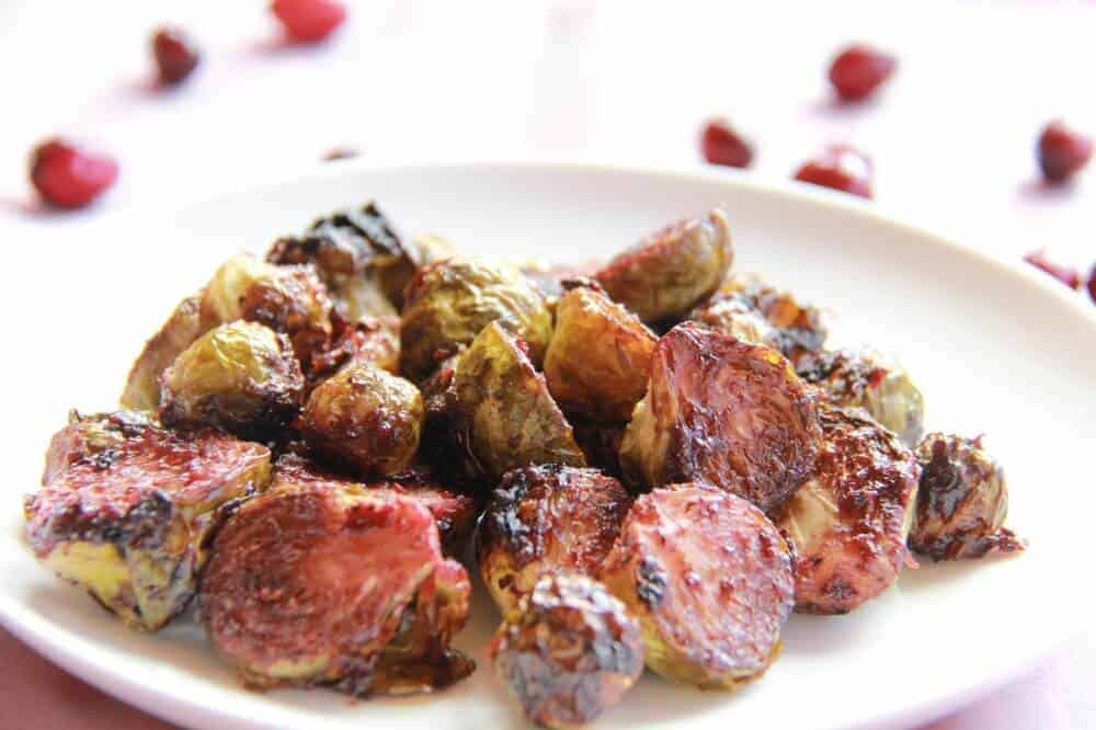 Cranberry Glazed Roasted Brussel Sprouts