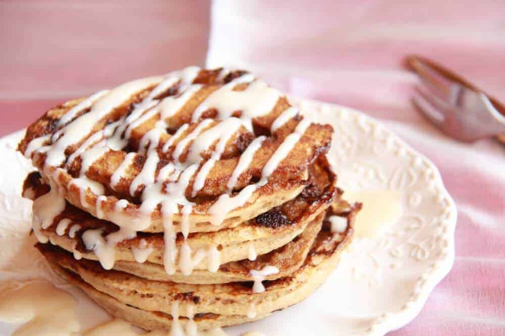 made cinnamon swirl pancakes……and then added chocolate chips ...