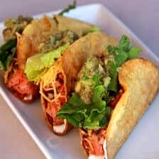 Blackened salmon fish tacos half baked harvest for Side dishes for fish tacos