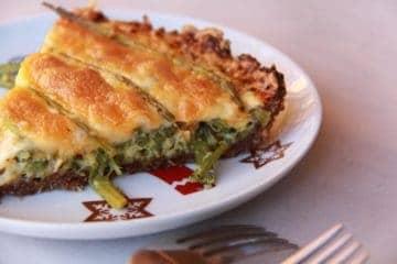 Christmas Eve Sesame Asparagus Quiche