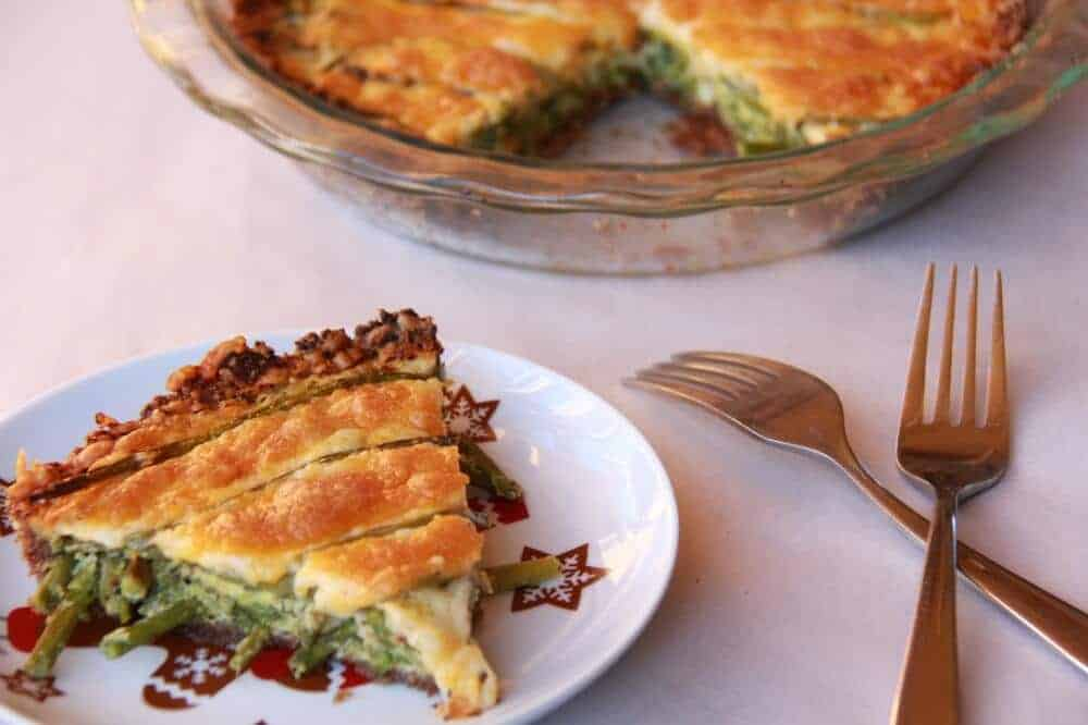 Sesame Asparagus Quiche