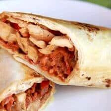 Crispy Thai Chicken Wraps
