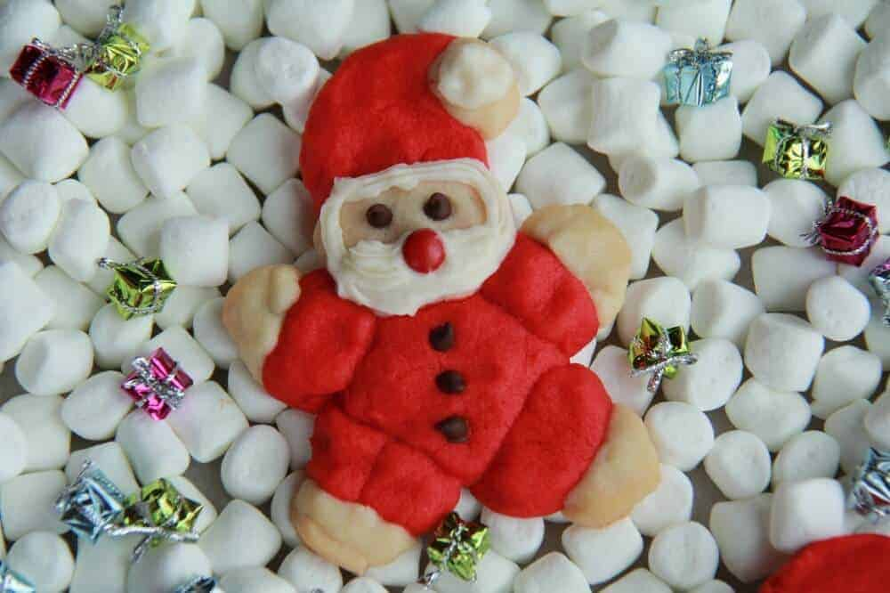 Jolly Santa Cookies