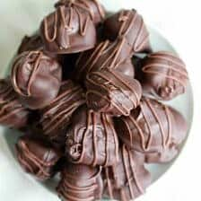 Chocolate Covered Pecan Butter Truffles