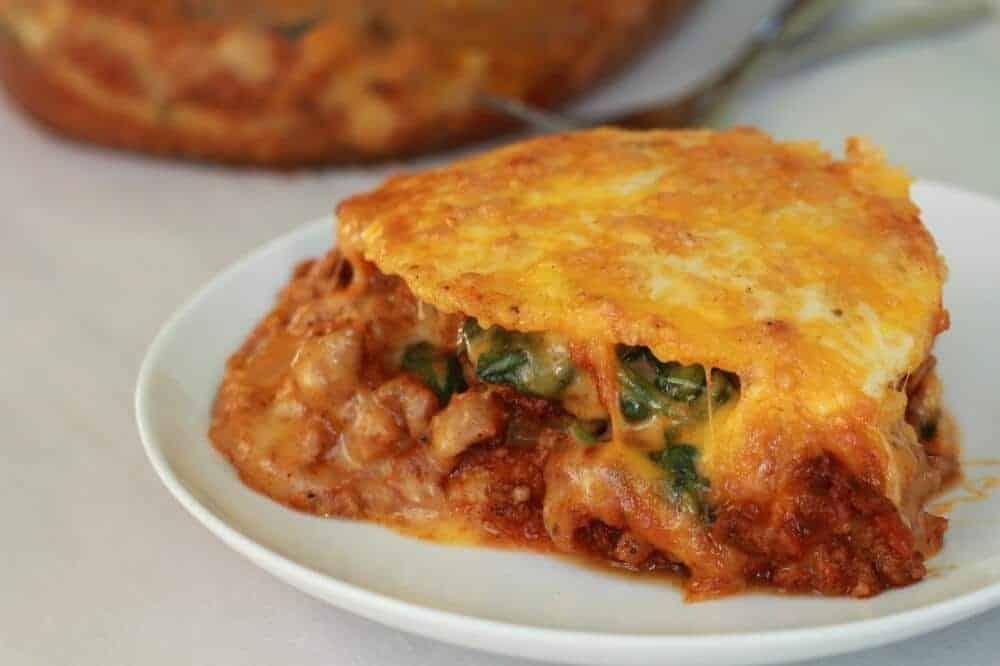 Chorizo and Polenta Lasagna - Half Baked Harvest