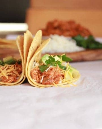 Crockpot Sweet and Spicy Chicken Tacos