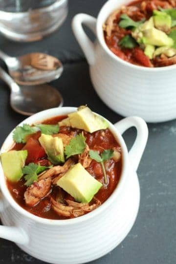 Smoky Chipotle Chocolate Chicken Chili.