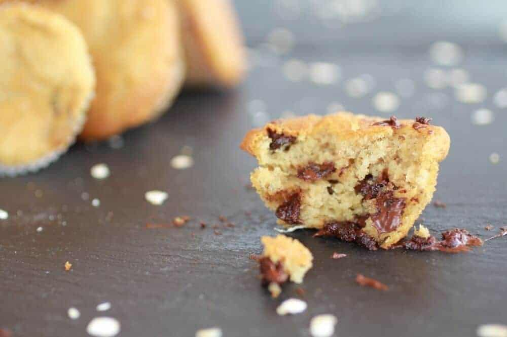 Chocolate Chip Cookie Banana Muffins-10