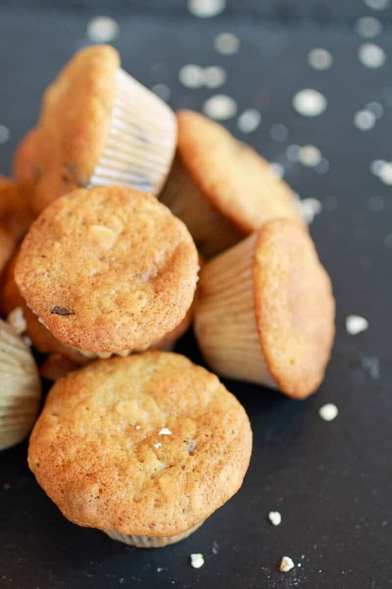 Chocolate Chip Cookie Banana Muffins-3