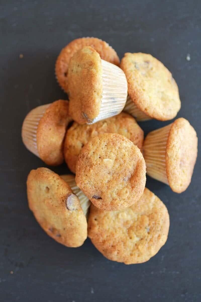 Chocolate Chip Cookie Banana Muffins-4