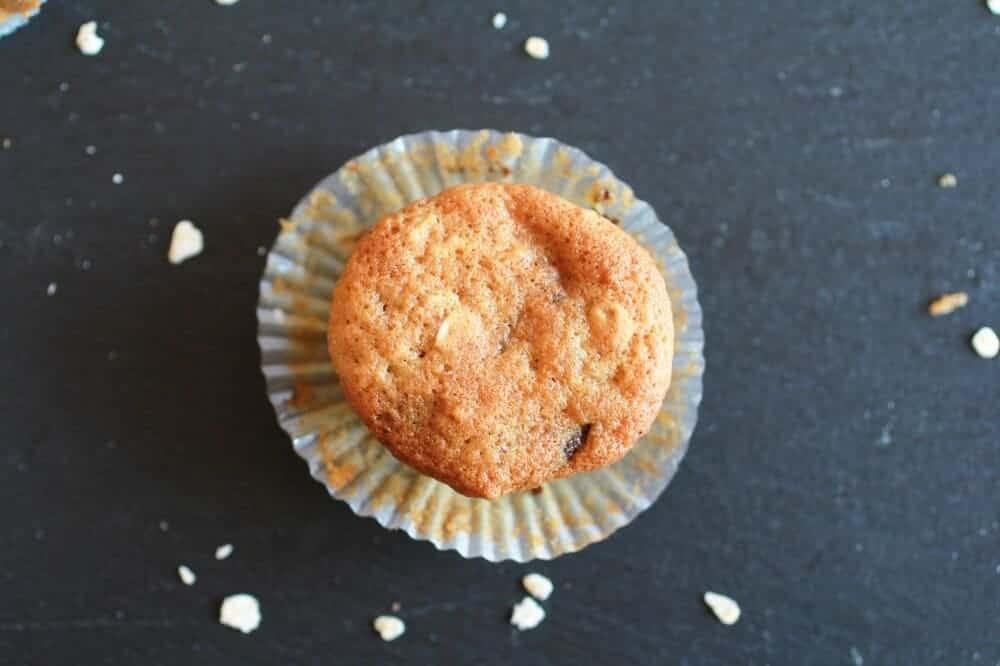 Chocolate Chip Cookie Banana Muffins-6