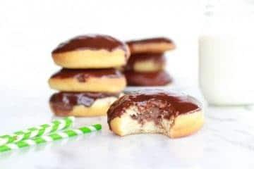 Chocolate Irish Cream Filled Donuts