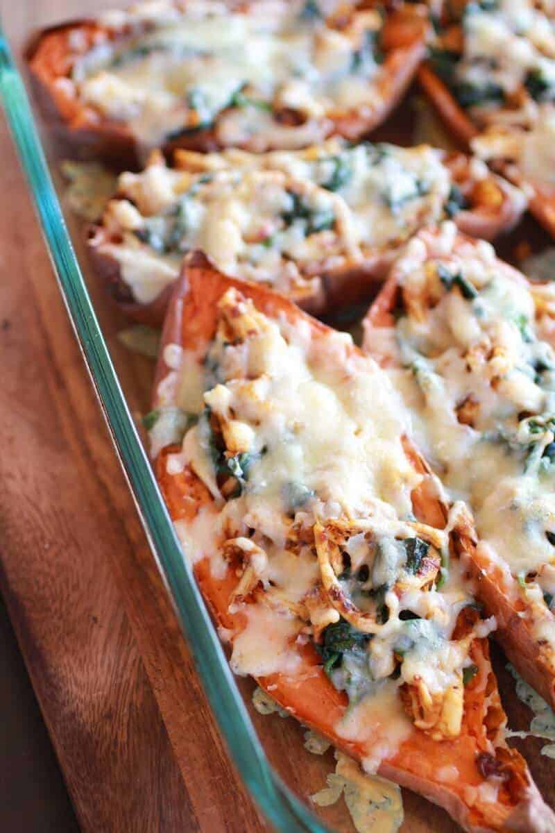 Healthy Chipotle Chicken Sweet Potato Skins-5