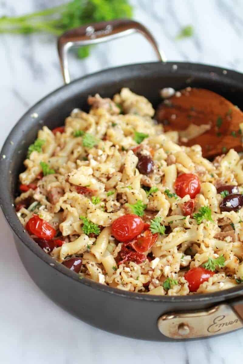 Campanelle Pasta with Tuna and Tomatoes