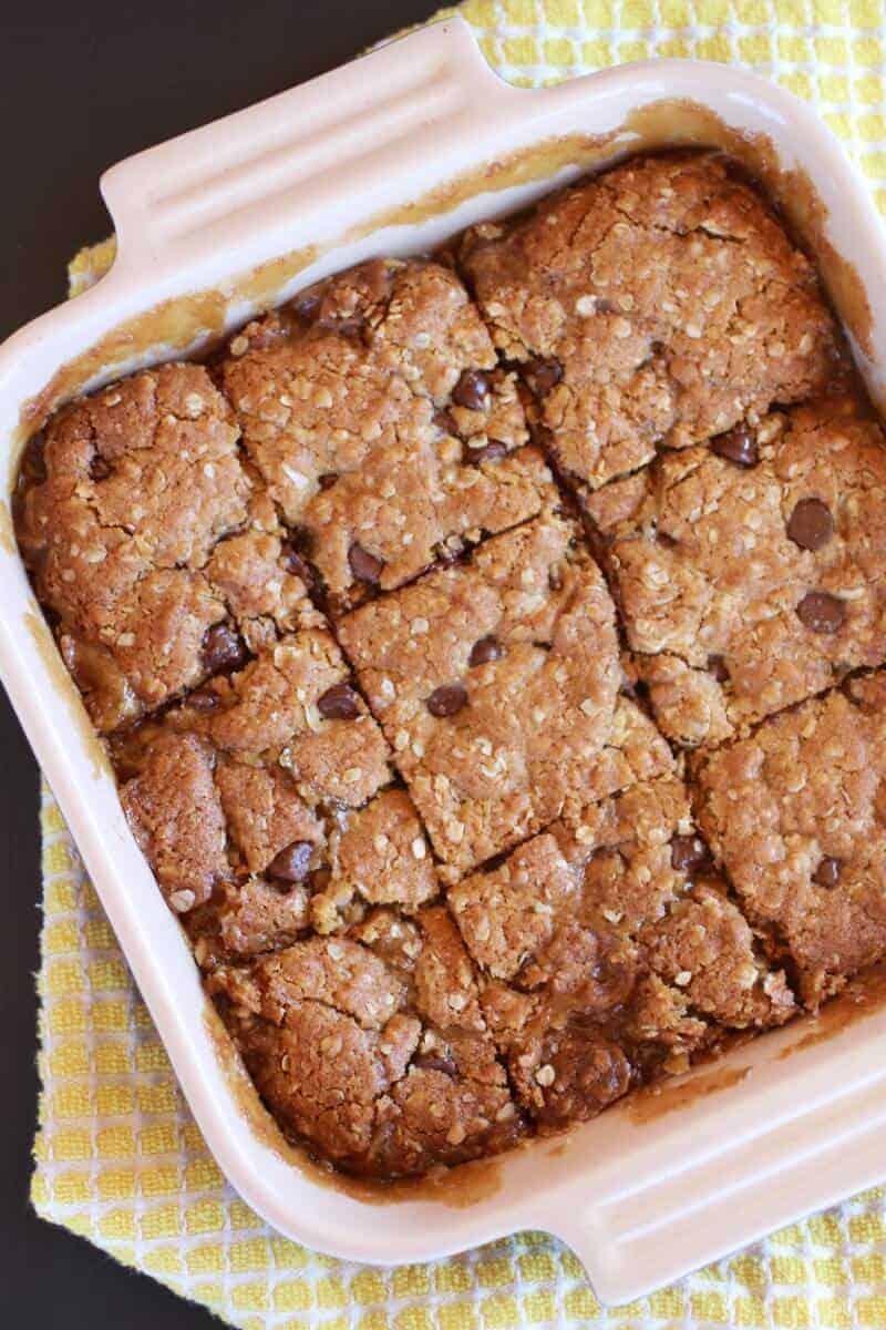 Oatmeal Chocolate Caramel Bars-7