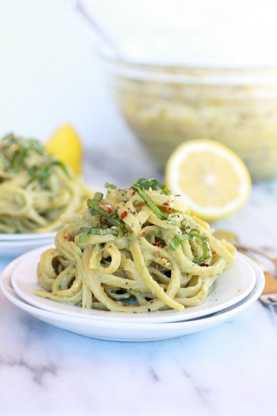 Creamy Avocado and Gouda Cheese Pasta-6
