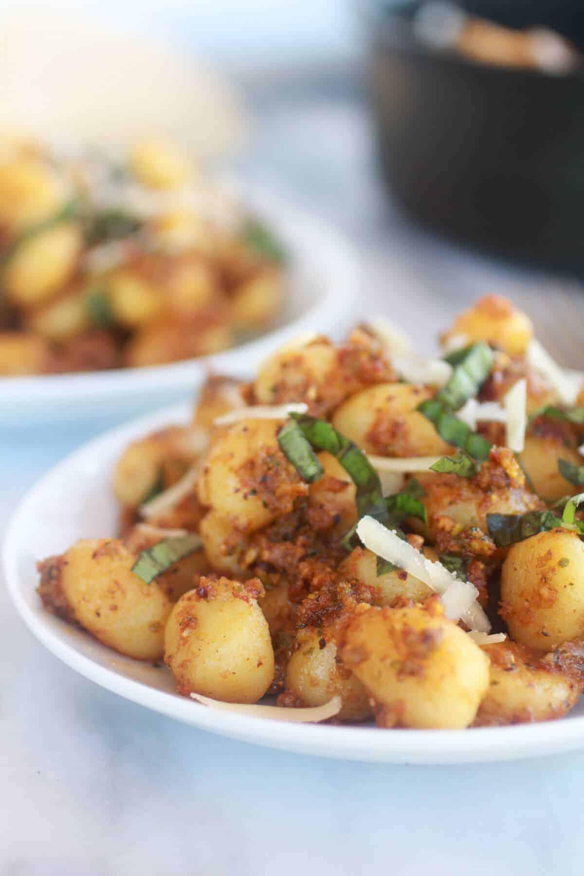 Crispy Gnocchi with Pistachio Pesto-6