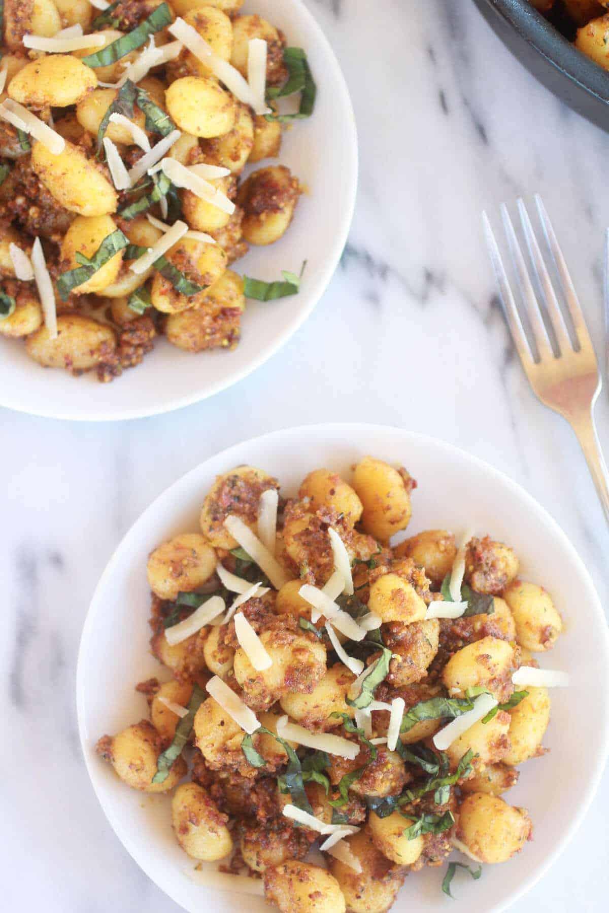 Crispy Gnocchi with Pistachio Pesto-7