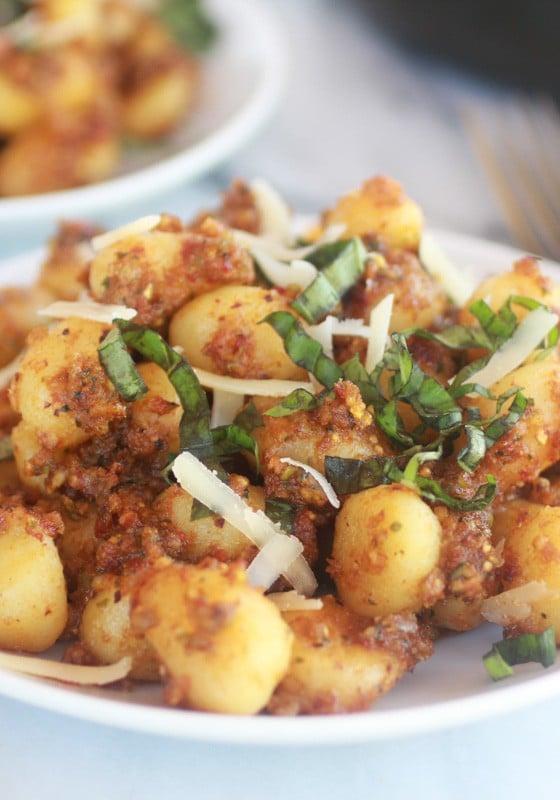 Crispy Gnocchi with Pistachio Pesto-9