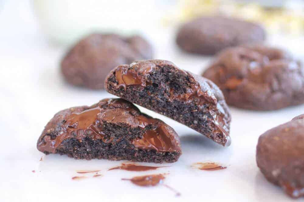 Dark Chocolate Coconut Mudslide Cookies-15