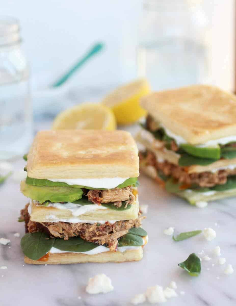 Greek Tuna Sun-Dried Tomato + Avocado Napoleon's-1