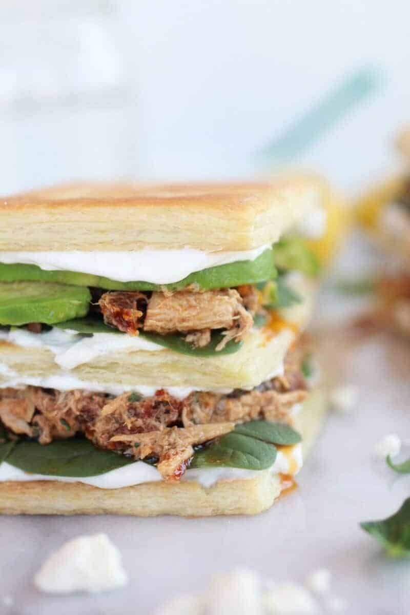 Greek Tuna Sun-Dried Tomato + Avocado Napoleon's-10