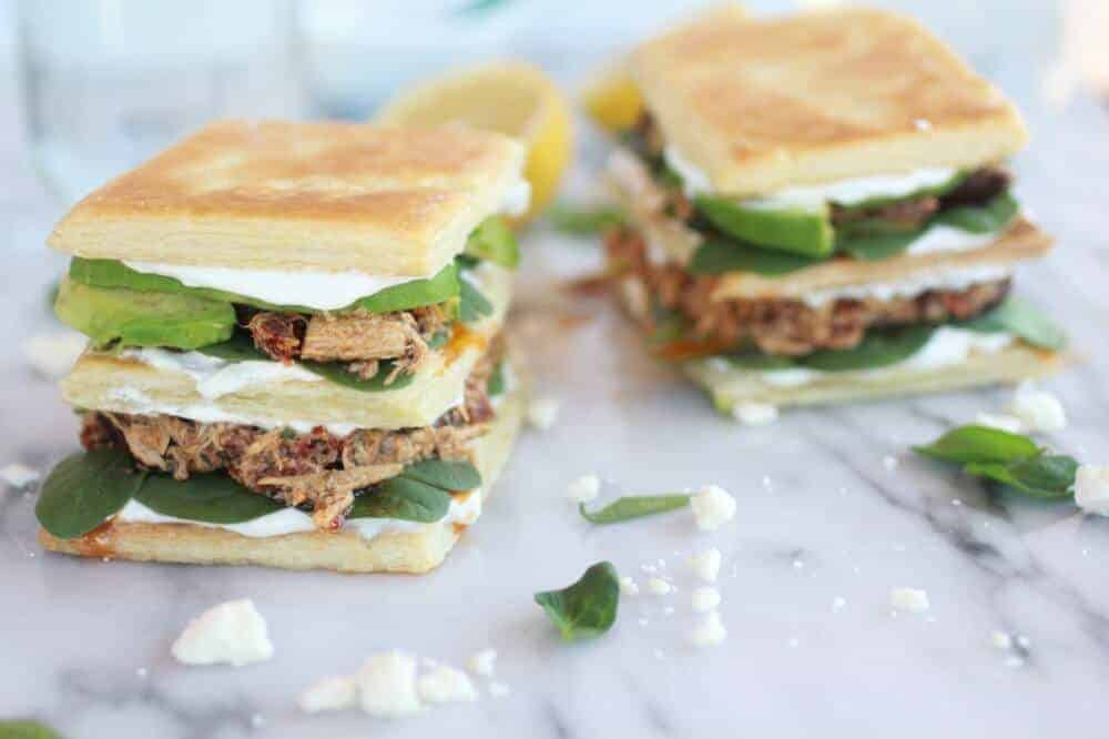 Greek Tuna Sun-Dried Tomato + Avocado Napoleon's-13