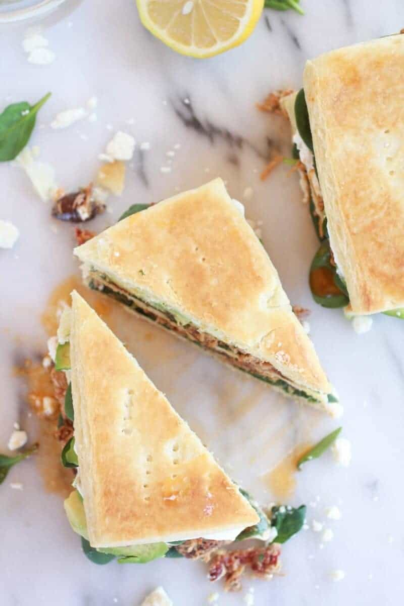 Greek Tuna Sun-Dried Tomato + Avocado Napoleon's-14