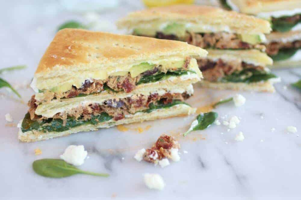 Greek Tuna Sun-Dried Tomato + Avocado Napoleon's-15
