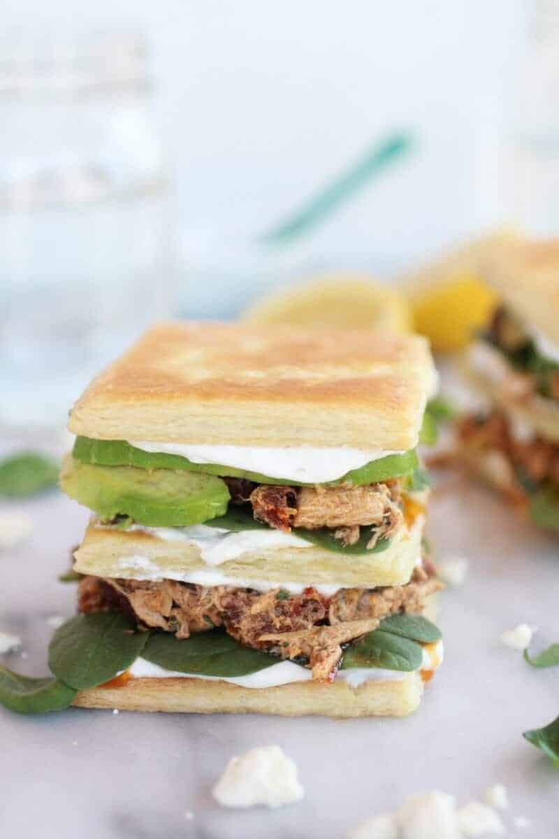 Greek Tuna Sun-Dried Tomato + Avocado Napoleon's-9
