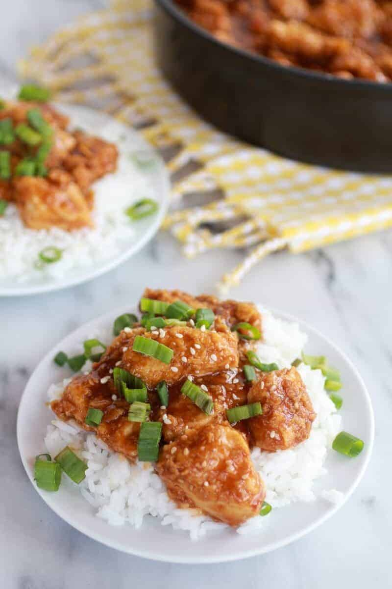 Healthier General Tso's Chicken-1