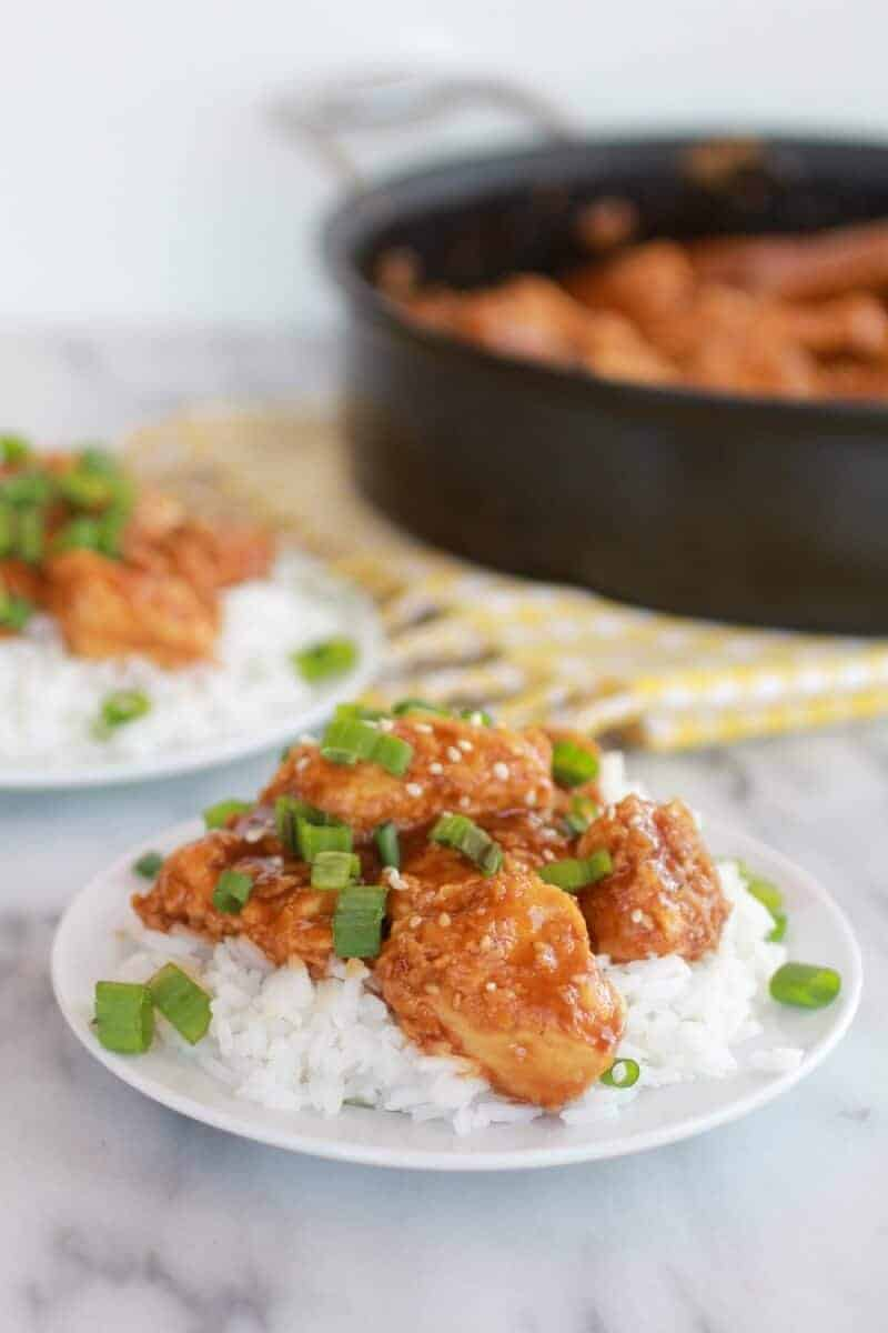 Healthier General Tso's Chicken-11