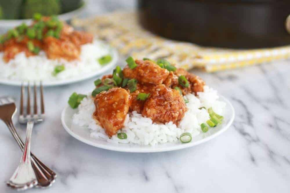 Healthier General Tso's Chicken-13
