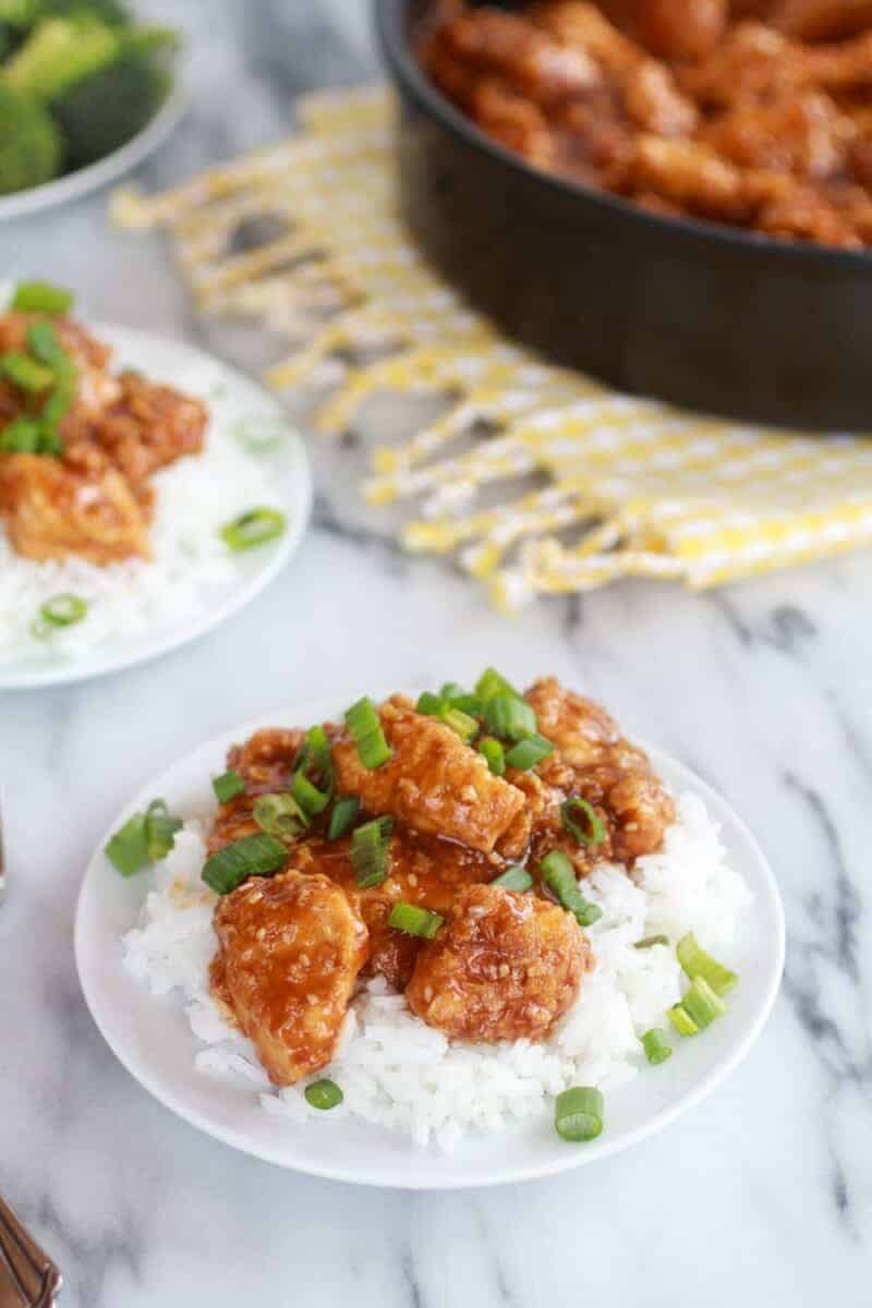 Healthier General Tso's Chicken-2