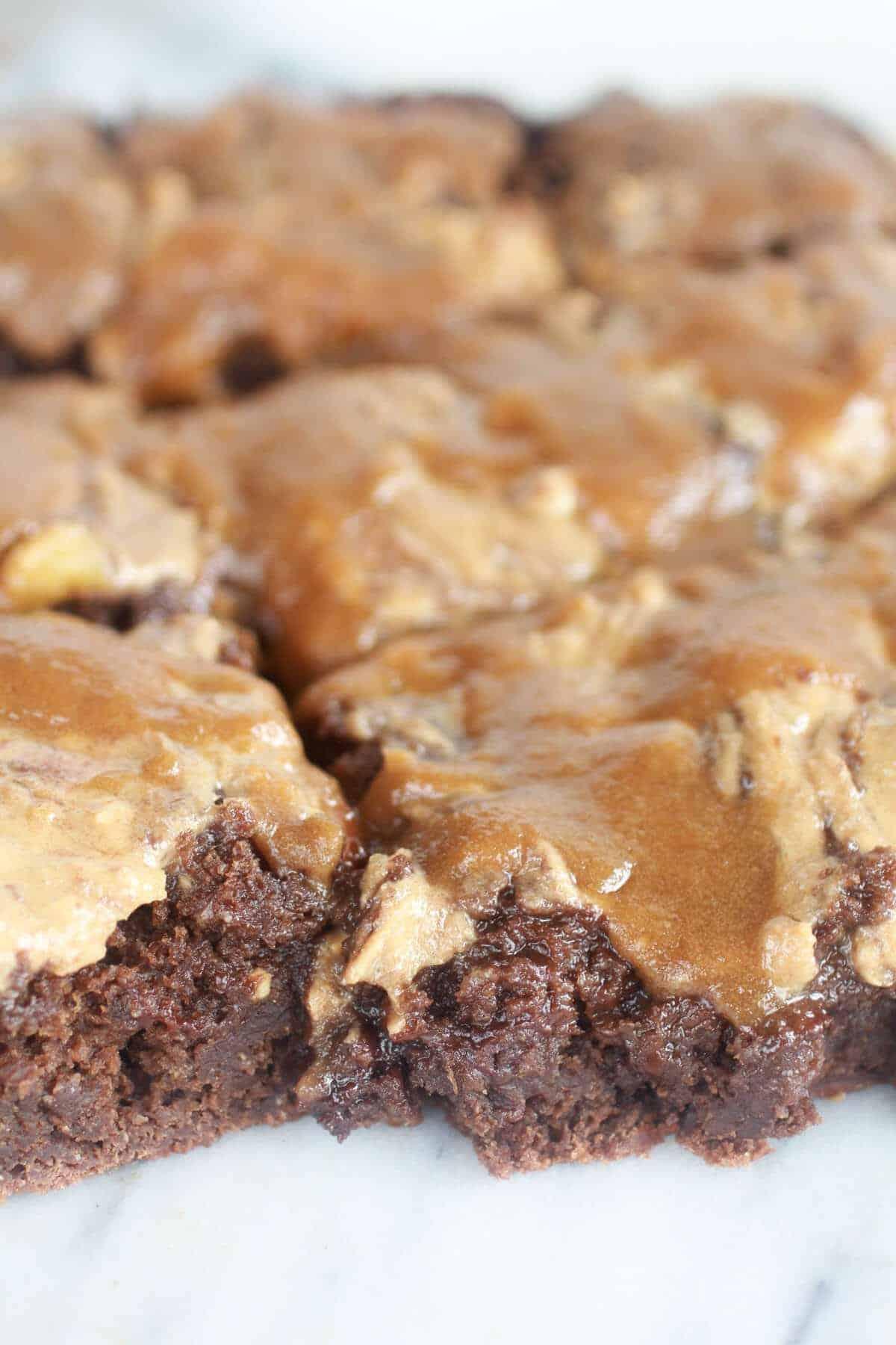 Lightened-Up Chocolate Banana Upside Down Cake-11