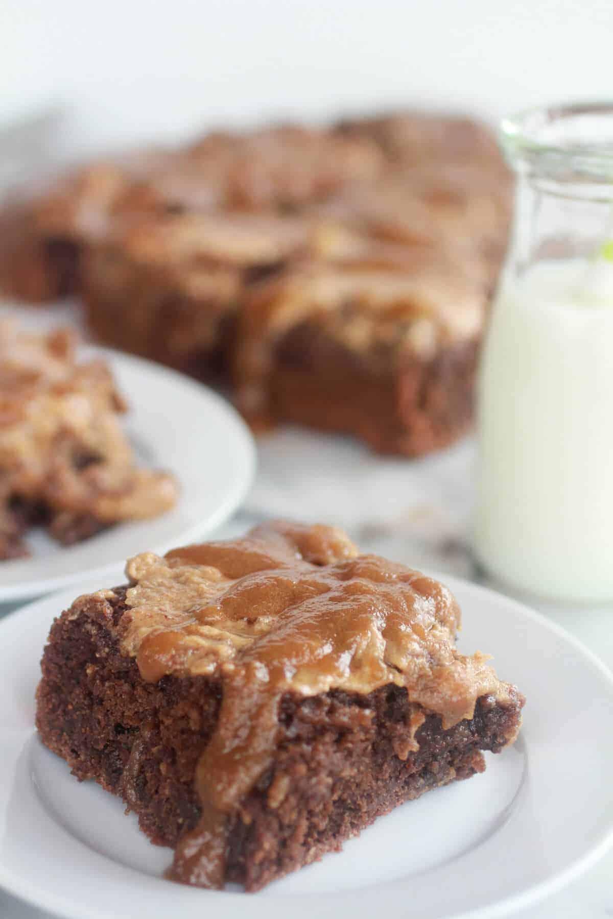 Lightened-Up Chocolate Banana Upside Down Cake-5