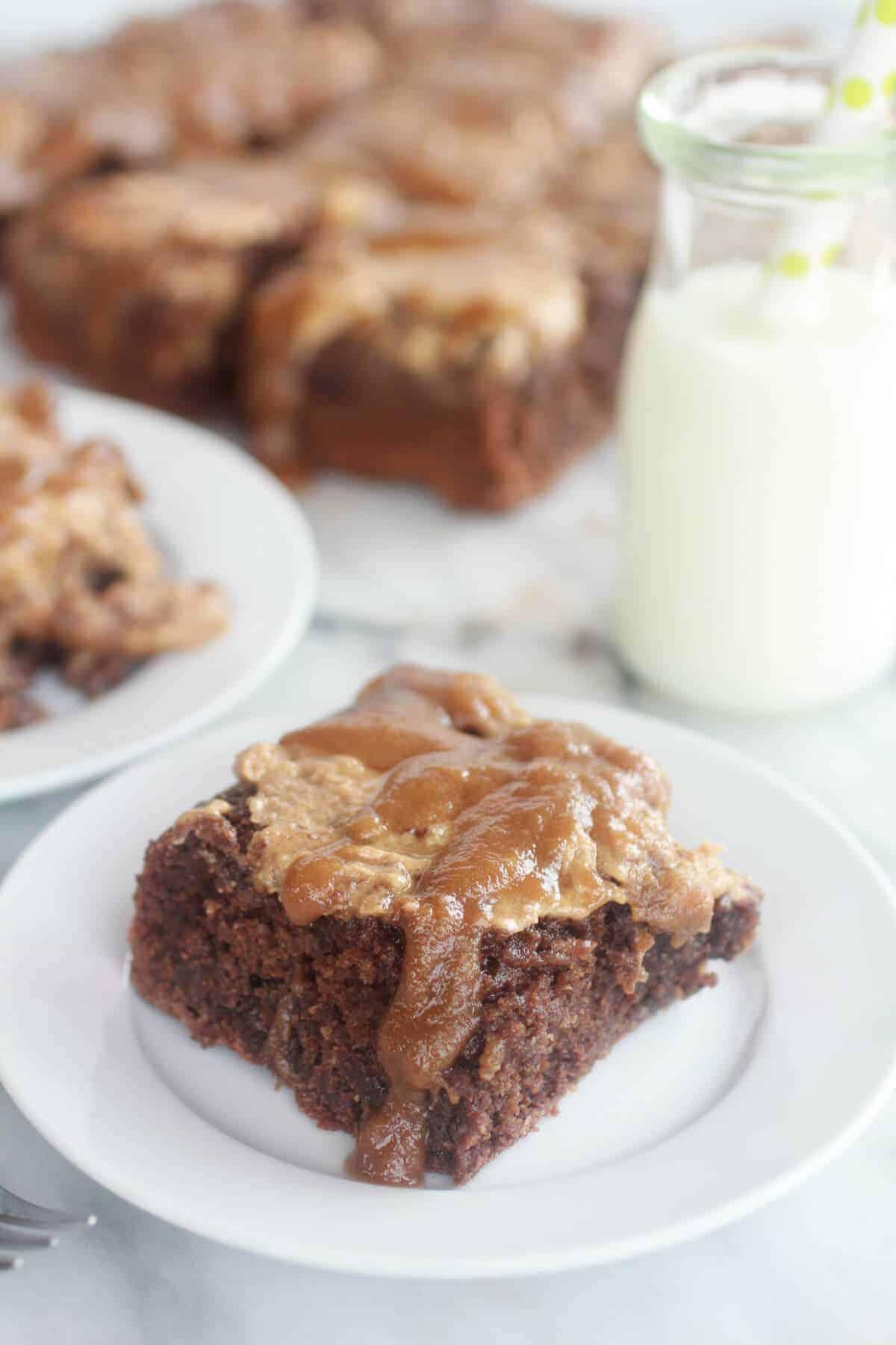 Lightened-Up Chocolate Banana Upside Down Cake-6