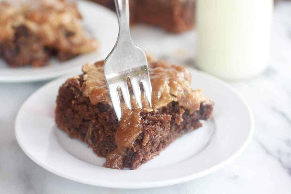Lightened-Up Chocolate Banana Upside Down Cake-9