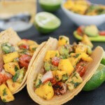 Mahi Mahi Fish Tacos with Chipotle Mango Salsa