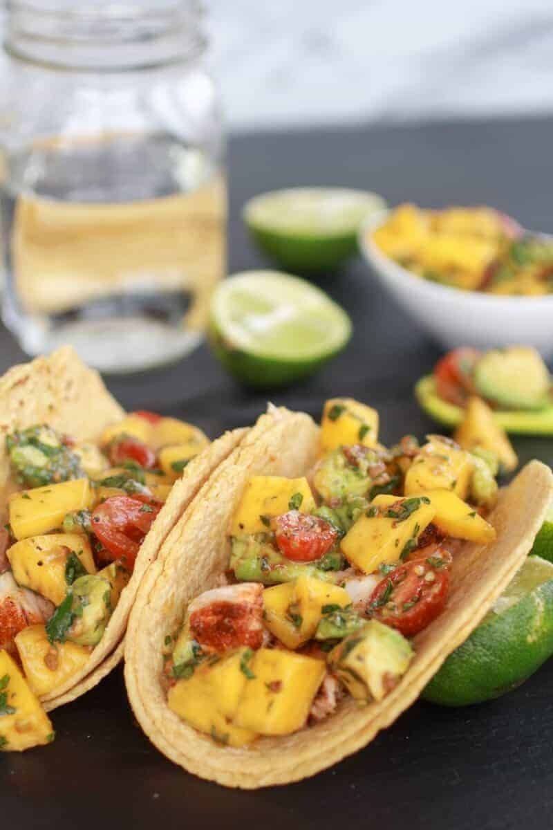 Mahi Mahi Fish Tacos with Chipotle Mango Salsa-7