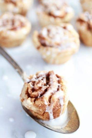 Whole Wheat 30 Minute Mini Cinnamon Buns…and they're healthy!