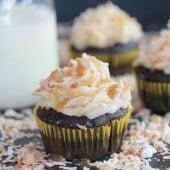 Toasted Coconut Caramel Chocolate Cupcakes-1
