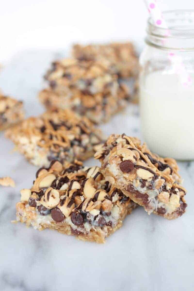 7 Layer Oatmeal Chocolate Chip Cookie Bars-7