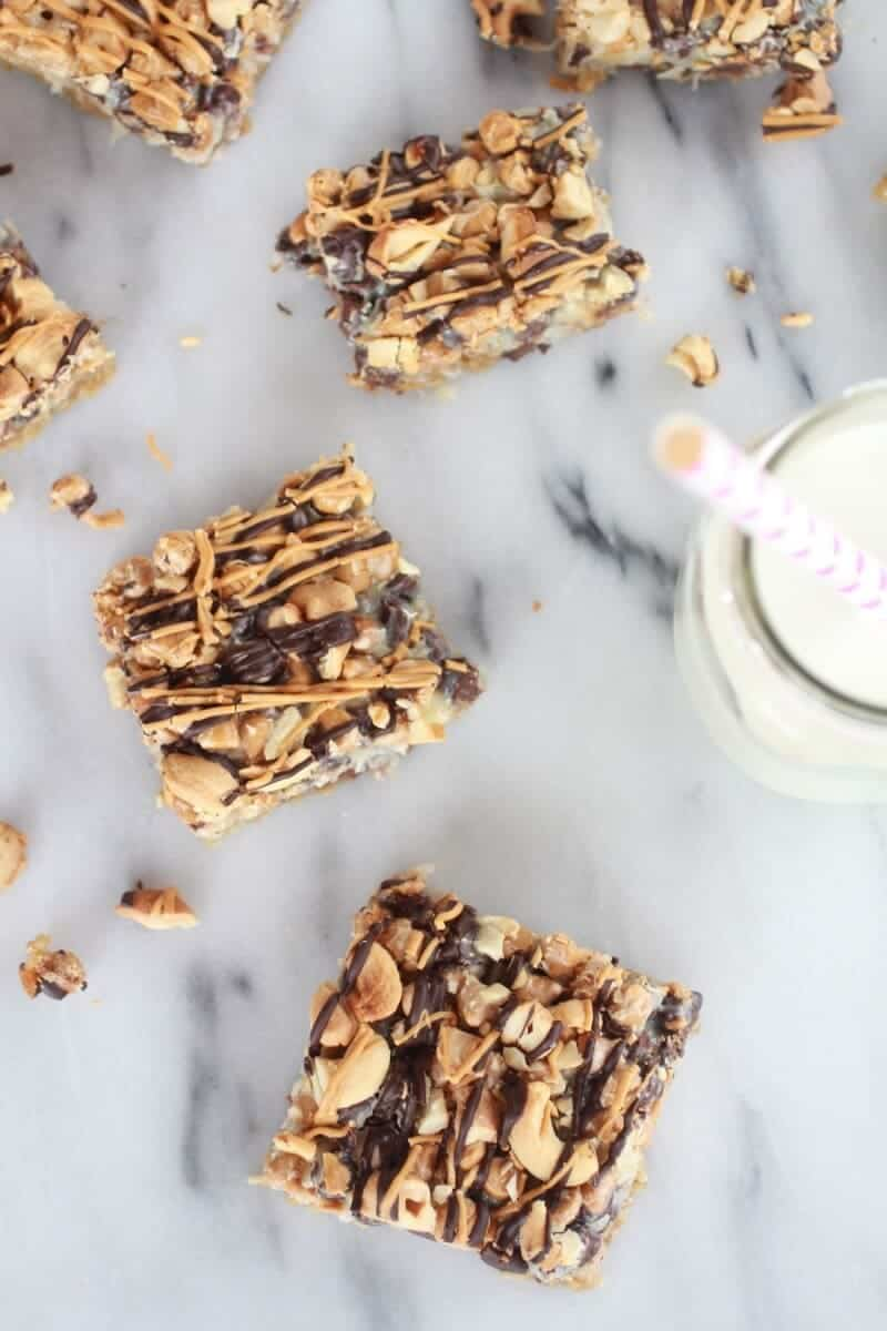 7 Layer Oatmeal Chocolate Chip Cookie Bars-8