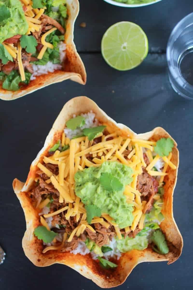 Crockpot Carnitas Tortilla Burrito Bowl https://www.halfbakedharvest.com/