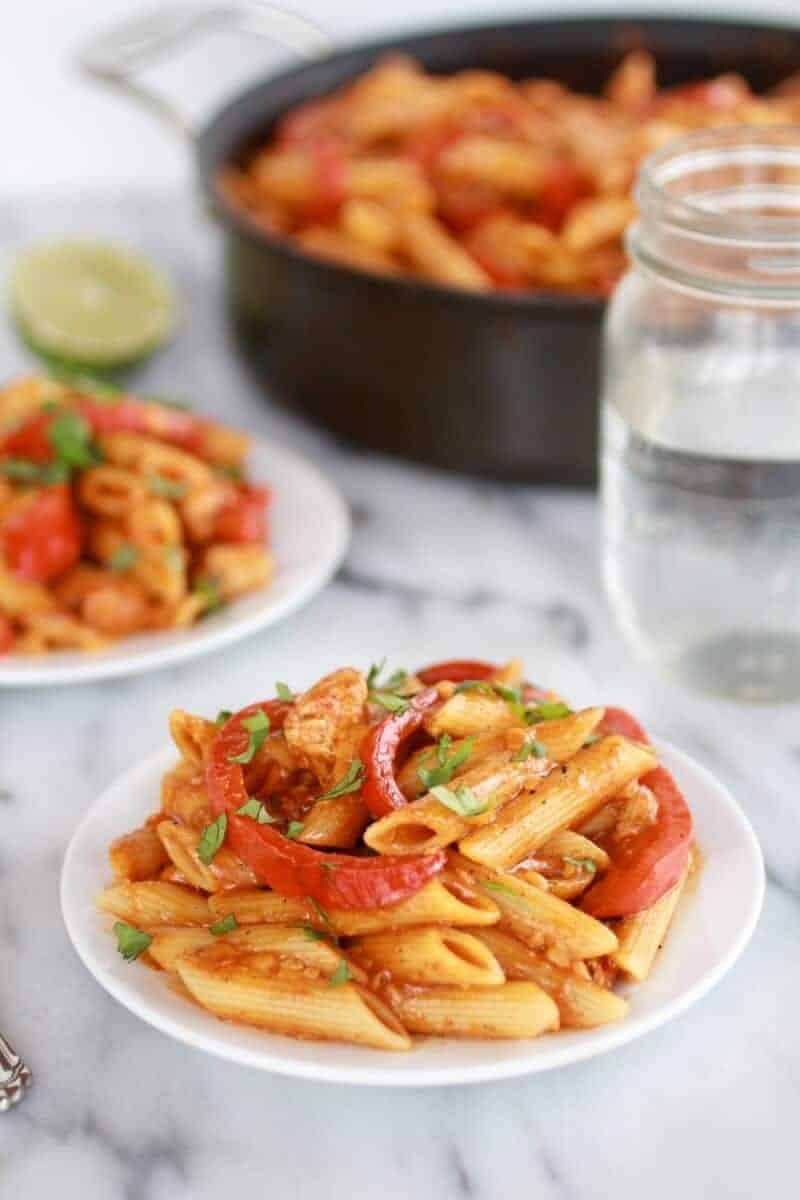 Fajita Chicken and Enchilada Pasta-1