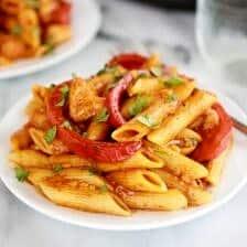 Fajita Chicken and Enchilada Pasta